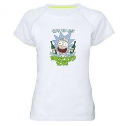 Женская спортивная футболка Time to get riggity wrecked son