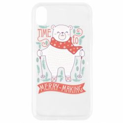 Чехол для iPhone XR Time to merry-making