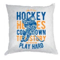 Подушка Time To Play Hockey