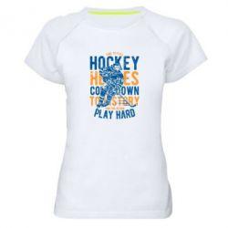 Жіноча спортивна футболка Time To Play Hockey