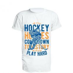 Подовжена футболка Time To Play Hockey