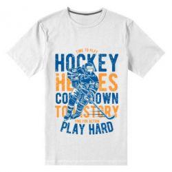 Чоловіча стрейчева футболка Time To Play Hockey