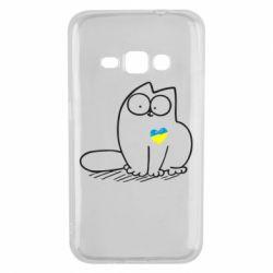 Чехол для Samsung J1 2016 Типовий український кіт
