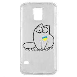 Чохол для Samsung S5 Типовий український кіт