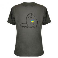 Камуфляжная футболка Типовий український кіт