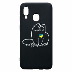 Чохол для Samsung A40 Типовий український кіт