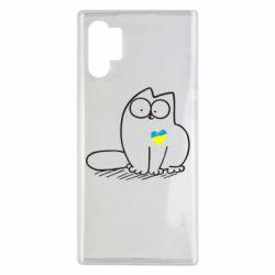 Чехол для Samsung Note 10 Plus Типовий український кіт