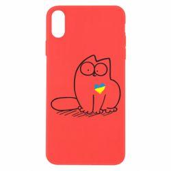 Чехол для iPhone X/Xs Типовий український кіт