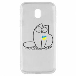 Чехол для Samsung J3 2017 Типовий український кіт