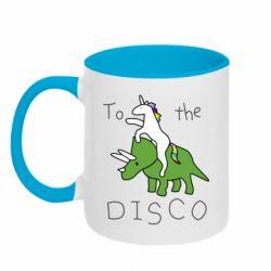 Кружка двоколірна 320ml To the disco