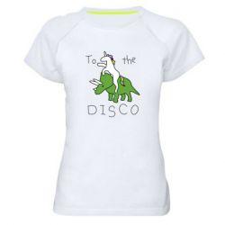 Жіноча спортивна футболка To the disco