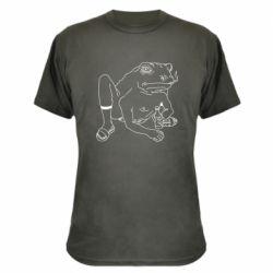 Камуфляжна футболка Toad with human hands