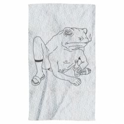 Рушник Toad with human hands