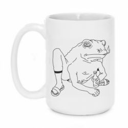 Кружка 420ml Toad with human hands