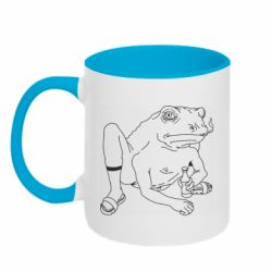 Кружка двухцветная 320ml Toad with human hands