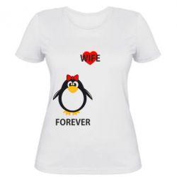 Женская футболка Together forever - FatLine