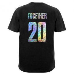 Мужская футболка  с V-образным вырезом Together голограмма