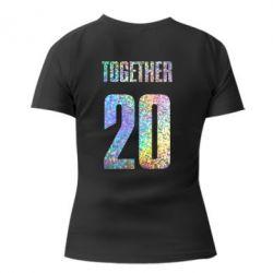 Женская футболка с V-образным вырезом Together голограмма