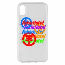 Чехол для iPhone X/Xs Tokio Hotel many logos