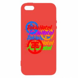 Чехол для iPhone5/5S/SE Tokio Hotel many logos