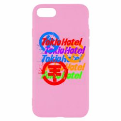 Чехол для iPhone 8 Tokio Hotel many logos