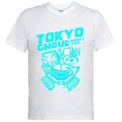 Чоловіча футболка з V-подібним вирізом Токійський гуль
