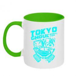 Кружка двоколірна 320ml Токійський гуль