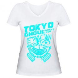 Жіноча футболка з V-подібним вирізом Токійський гуль