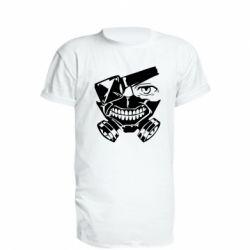 Подовжена футболка Tokyo Ghoul mask