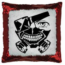 Подушка-хамелеон Tokyo Ghoul mask