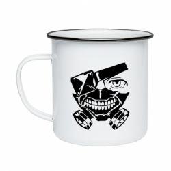 Кружка емальована Tokyo Ghoul mask