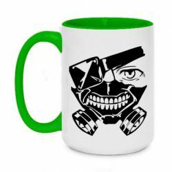 Кружка двоколірна 420ml Tokyo Ghoul mask