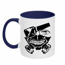 Кружка двоколірна 320ml Tokyo Ghoul mask