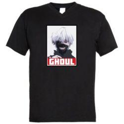 Мужская футболка  с V-образным вырезом Tokyo Ghoul portrait