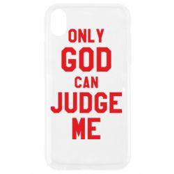 Чохол для iPhone XR Тільки Бог може судити мене