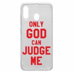 Чохол для Samsung A30 Тільки Бог може судити мене