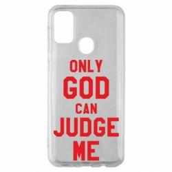 Чохол для Samsung M30s Тільки Бог може судити мене