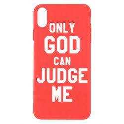 Чохол для iPhone X/Xs Тільки Бог може судити мене