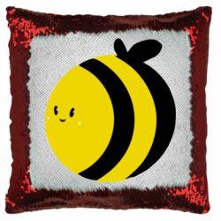 Подушка-хамелеон толстая пчелка