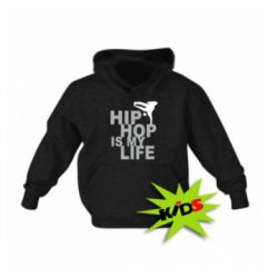 Толстовка дитяча чорна (XL) Hip-hop is my life