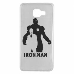 Чехол для Samsung A7 2016 Tony iron man