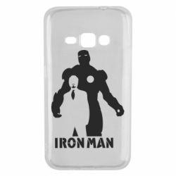 Чехол для Samsung J1 2016 Tony iron man