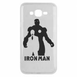 Чехол для Samsung J7 2015 Tony iron man