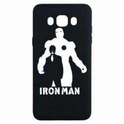 Чехол для Samsung J7 2016 Tony iron man
