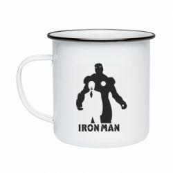 Кружка емальована Tony iron man