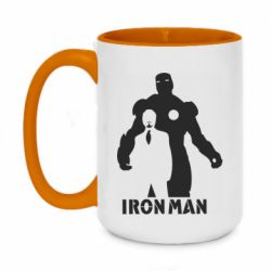 Кружка двоколірна 420ml Tony iron man