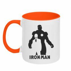 Кружка двоколірна 320ml Tony iron man