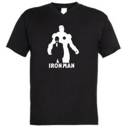 Чоловіча футболка з V-подібним вирізом Tony iron man