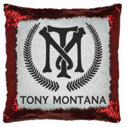 Подушка-хамелеон Tony Montana Logo