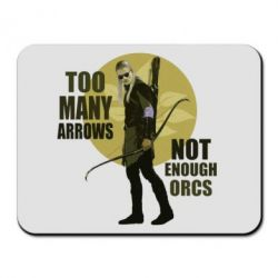 Коврик для мыши Too many arrows, not enought orcs